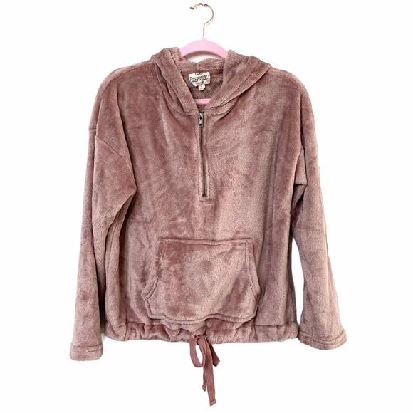 Pink republic Mauve Faux fur hoodie Sz L